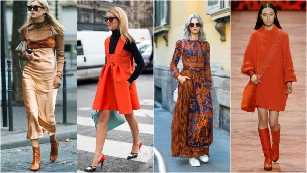 одежда в оранжевых цветах