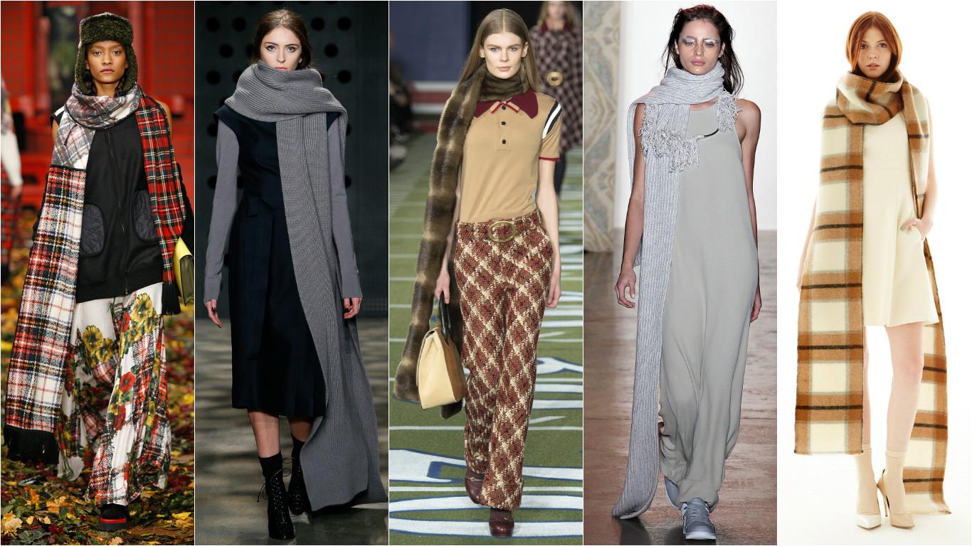 Модные шарфы на осень 2015
