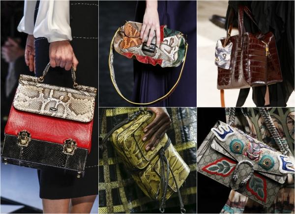 сумки со змеиной кожей 2017 фото