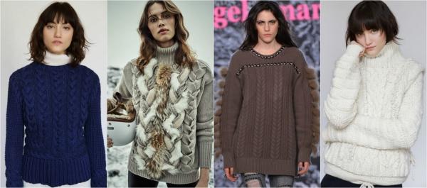 ажурный зимний свитер