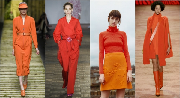 оранжевый цвет как модно носить