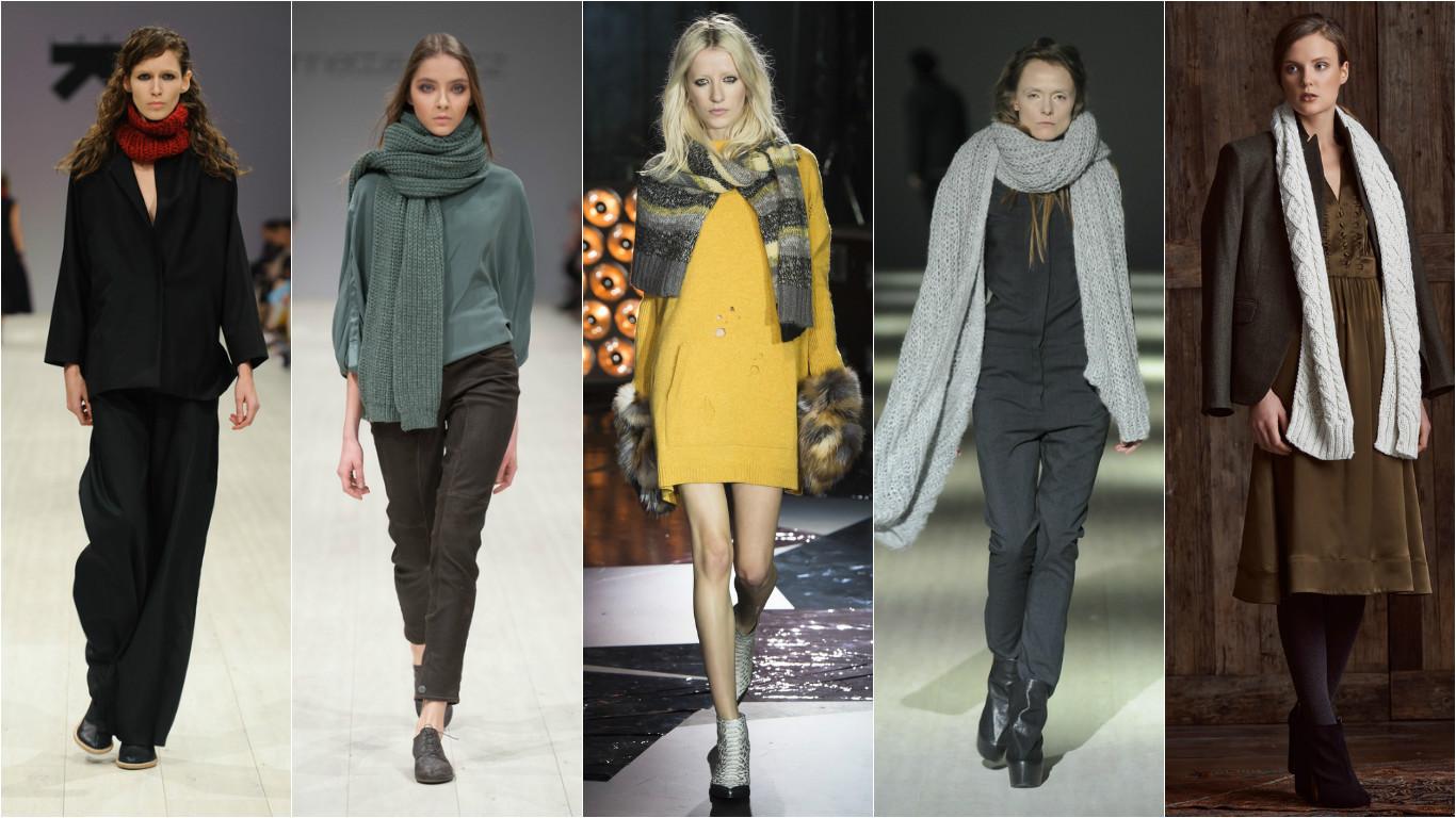 С чем носить шарф осенью 2015