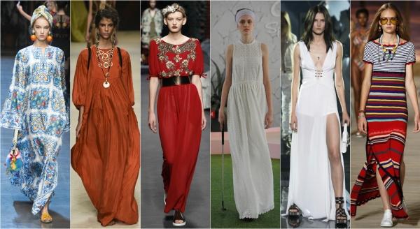 какие платья в моде 2016 году фото