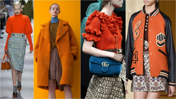 оранжевая одежда тренды 2016-17