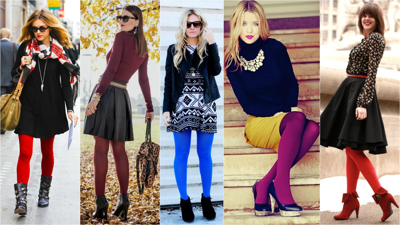 Колготки цвета какие с чем носить
