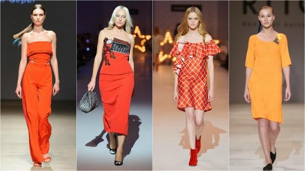 оранжевый цвет в моде