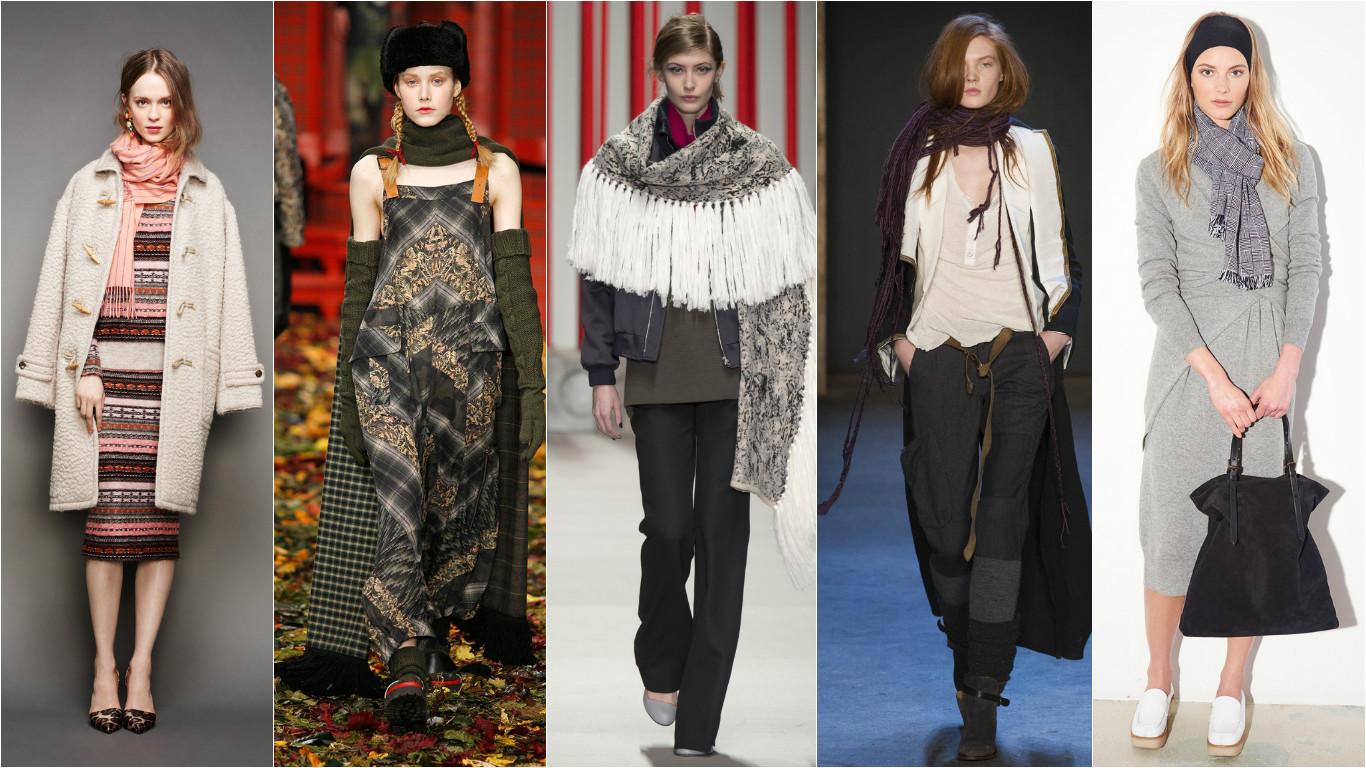 Как надеть шарф. Модные шарфы 2015