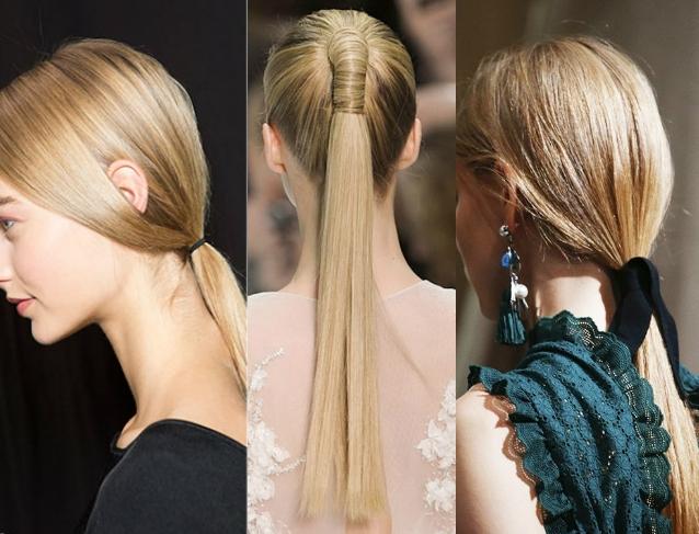 Модные хвосты волос