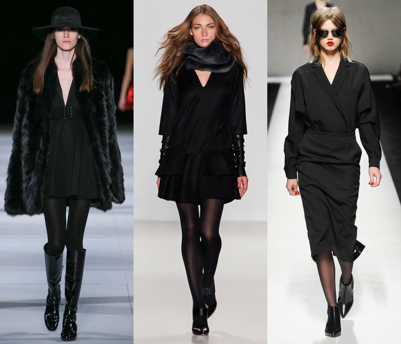Как носить черное мини платье