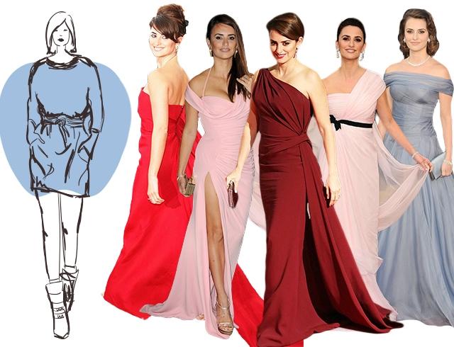 Как выбрать вечернее платье по типу фигуры яблоко