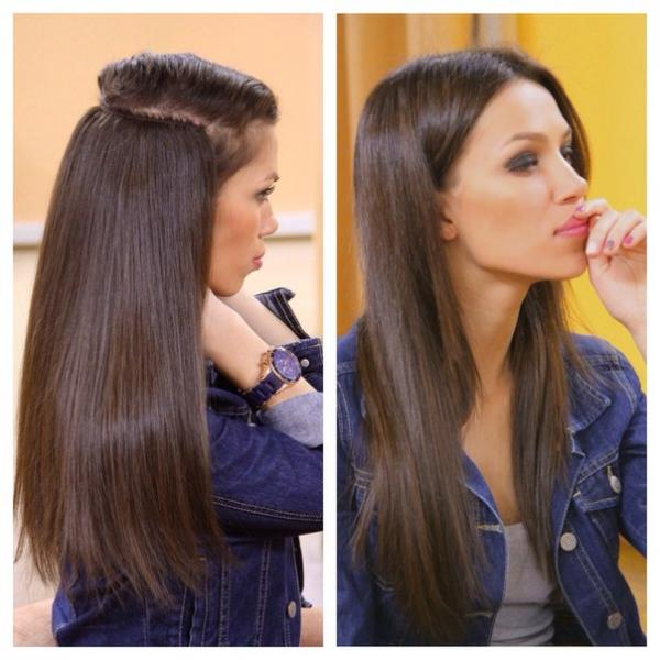 Наращивание волос вика