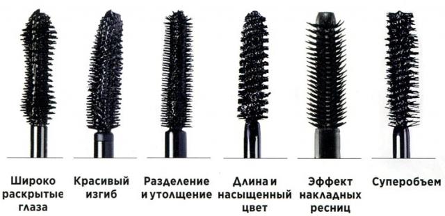 тушь для ресниц, макияж глаз, кисточка для туши, кисть, тушь, выбрать кисть для туши
