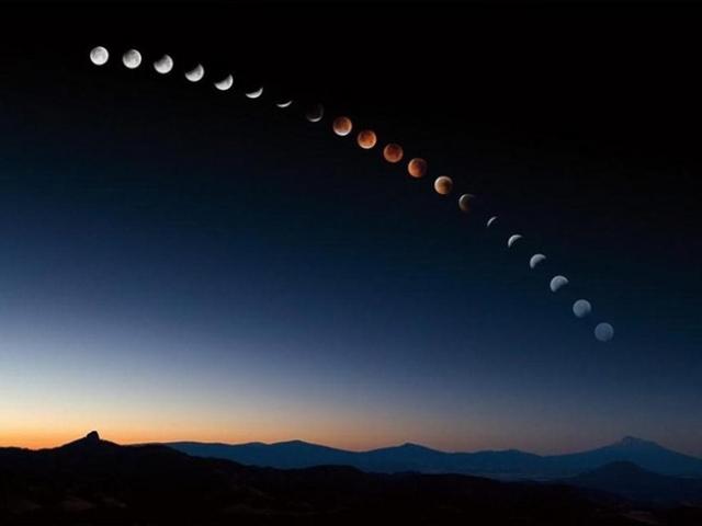лунное затмение август 2017