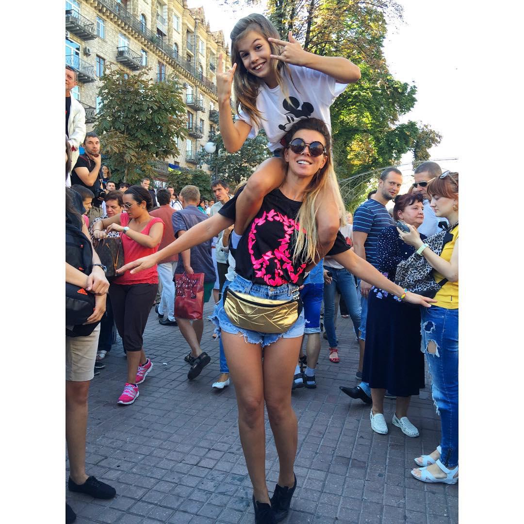 Седокова с дочкой Алиной
