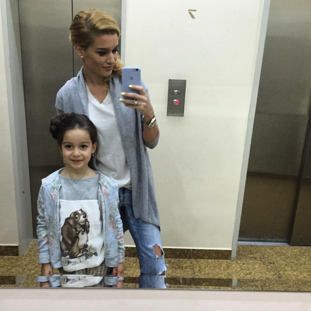 Ксения Бородина с Машей фото