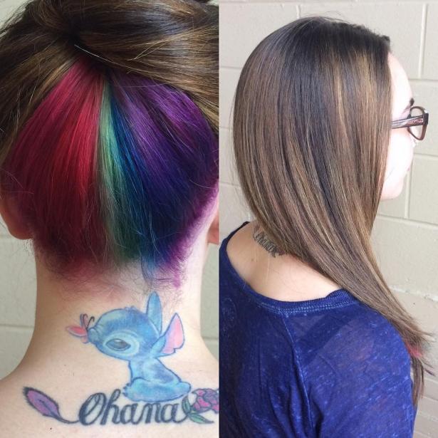 фото радуга волосы