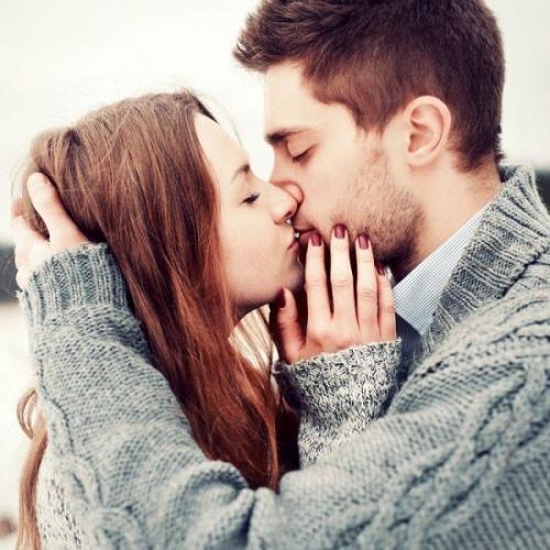 поцелуй парня и девушки фото