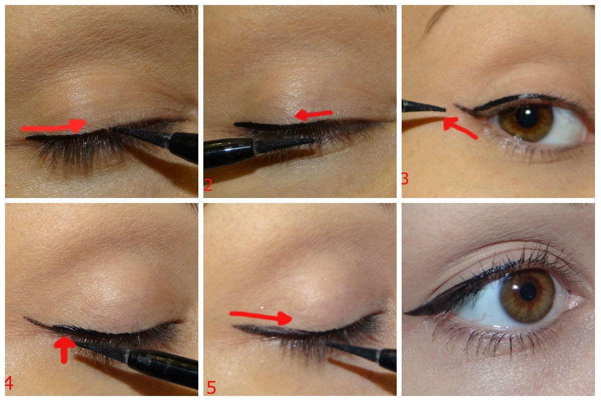 Как сделать тенями стрелки на глазах самой видео