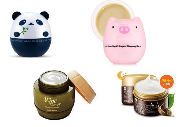Корейская маска для лица ночная
