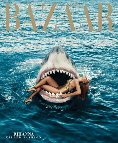 Рианна в пасти акулы