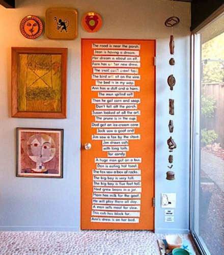 двери в стиле декупаж