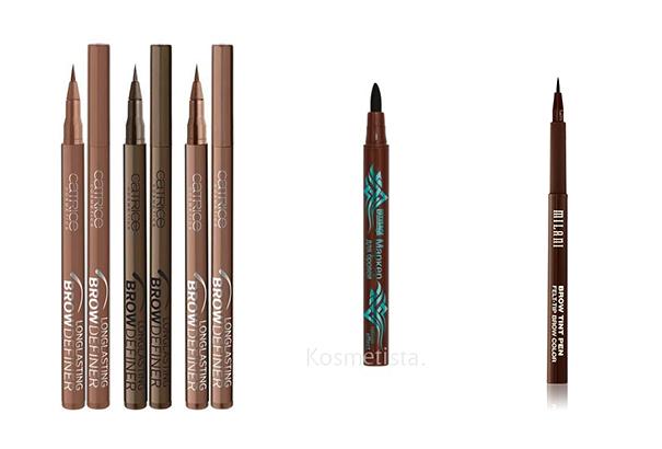 Чем можно накрасить брови если нет карандаша