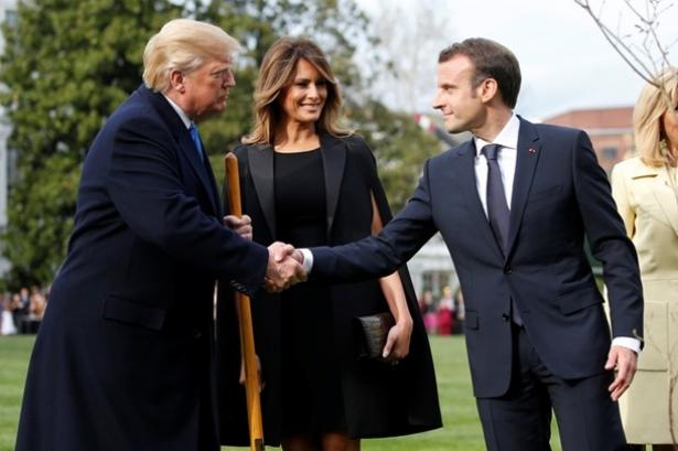 встреча трампов и макронов