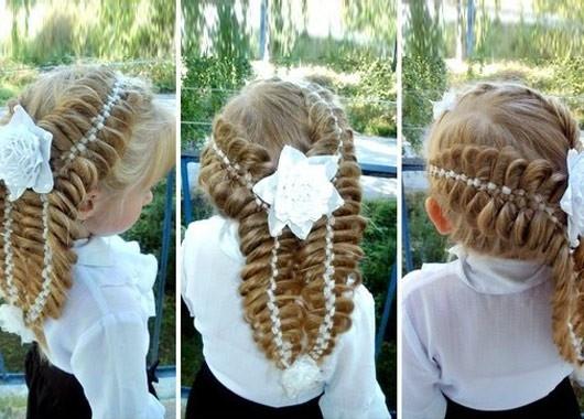 фото прически на длинные волосы на 1 сентября