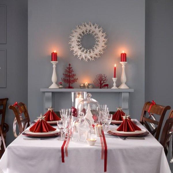 Рождественское украшение стола своими руками
