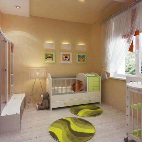 обустроить детскую водноккомнатной квартире грудь внушительного