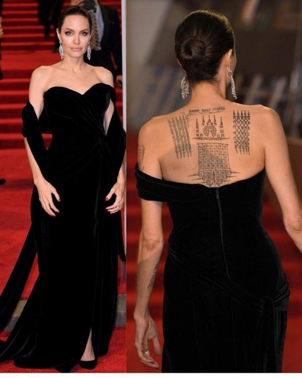 Анджелина Джоли BAFTA-2018 фото: Джоли в черном платье и ... анджелина джоли 2018