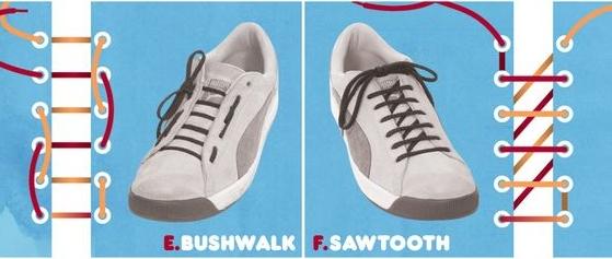 картинки как красиво завязать шнурки на кроссовках