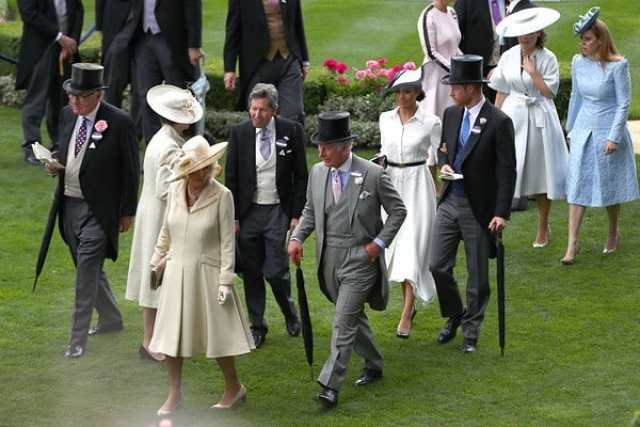 королевская семья на Royal Ascot