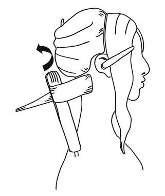 Удерживайте концы волос во