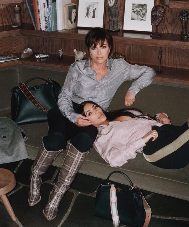 Ким Кардашьян и мама