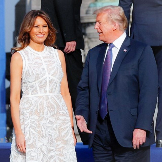 саммит нато мелания трамп