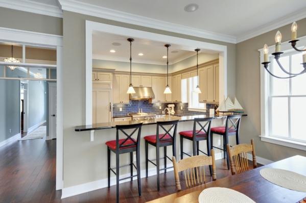 Design della cucina con bancone da bar: idee belle e confortevoli ...