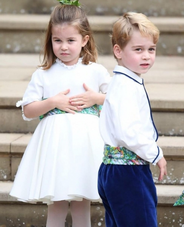 принцесс шарлотта и принц джордж на свадьбе принцессы евгении