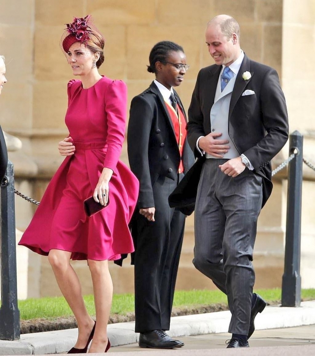кейт миддлтон и принц уильям на свадьбе принцессы евгении