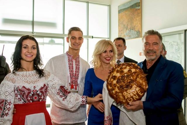 Арнольд Шварценегер в Киеве