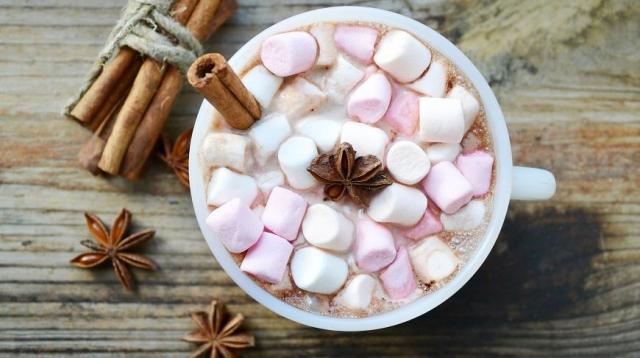 горячее какао с зефиром