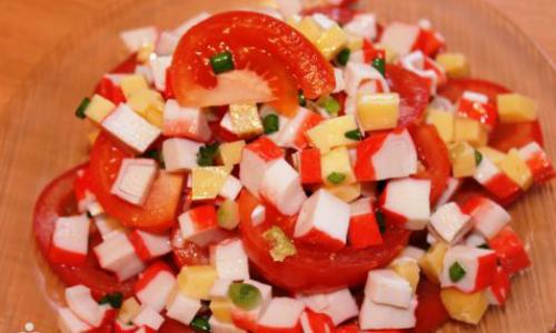 салат с крабовыми палочками рецепты с фото