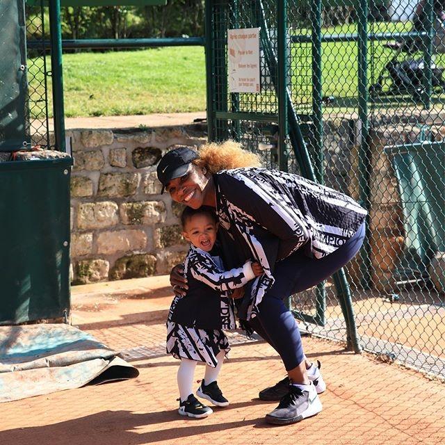 Серена Уильямс с дочкой