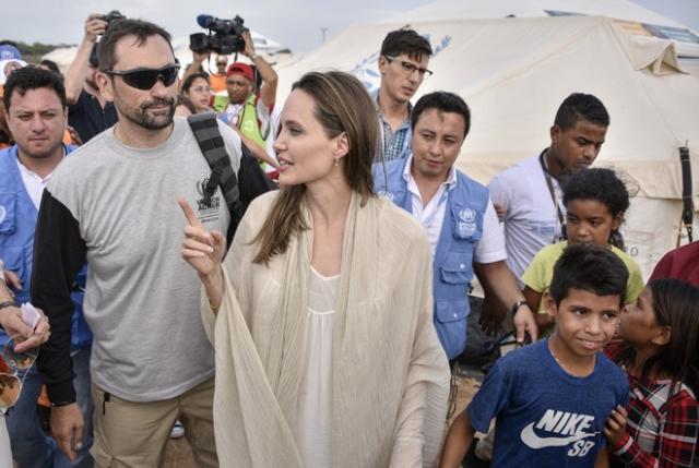 Колумбия встречает Анджелину Джоли: рабочий визит посла доброй воли ООН в Венесуэлу (ФОТО)