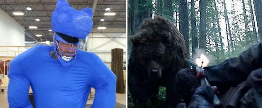Кто играл медведя из Выжившего