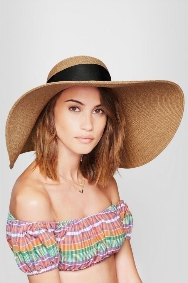 Модные шляпа на лето 2016 соломенная шляпа