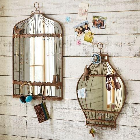 зеркало в виде птичьей клетки фото