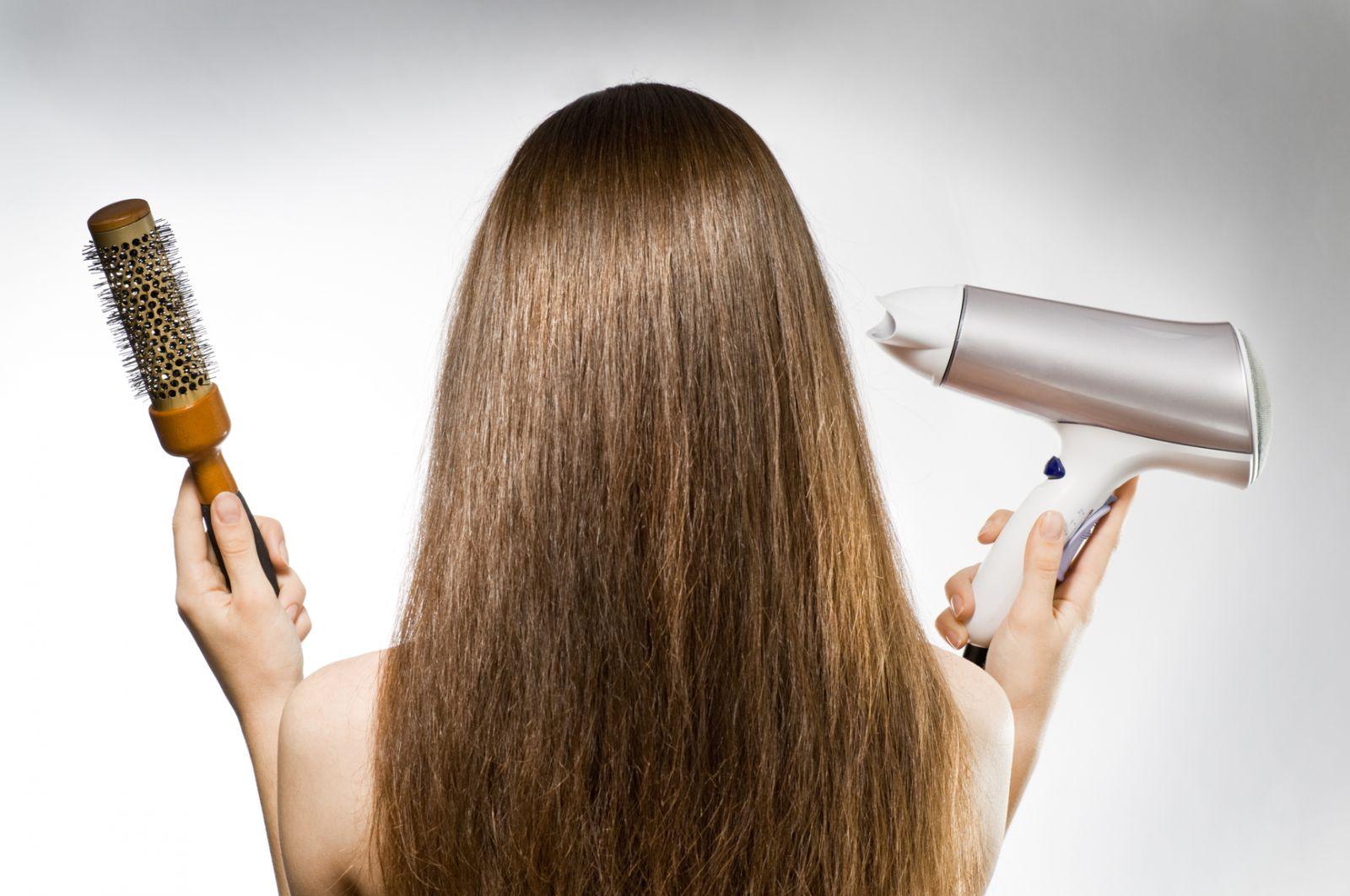 Как сушить волосы феном парня