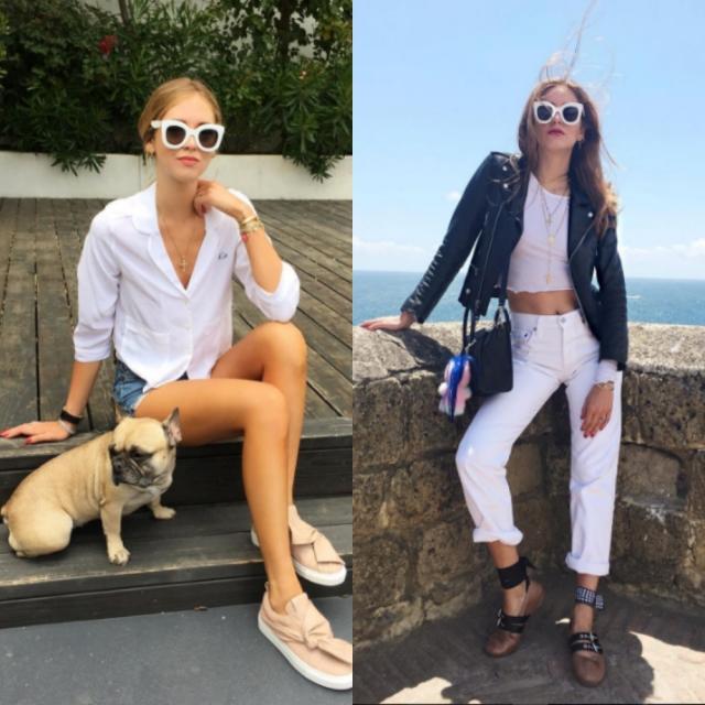 Модные солнцезащитные очки 2016 в белой оправе Кьяра Ферраньи