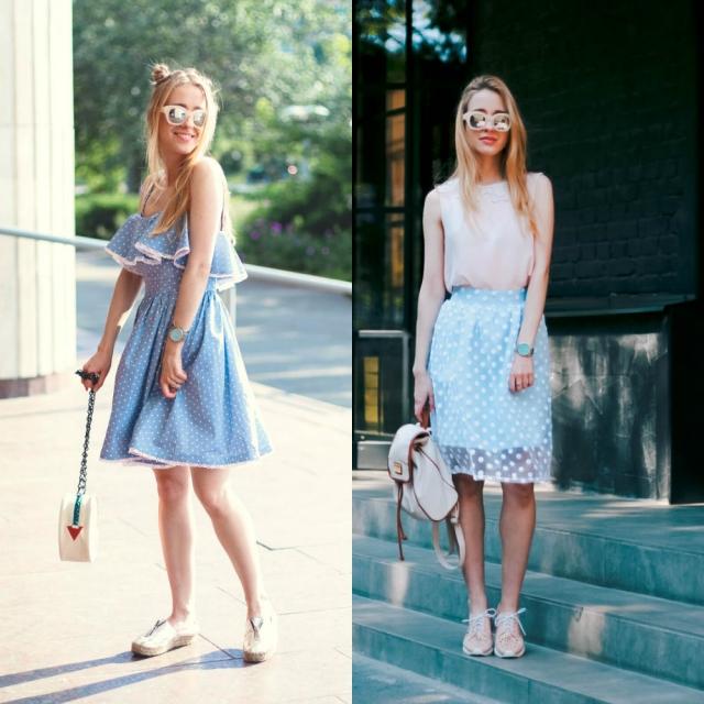 Модные солнцезащитные очки 2016 в белой оправе Алина Погребняк
